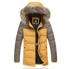 Men Down Coats Brand Design Raccoon Fur Winter Snow Warm White Duck Down Parkas 5XL New Male Hooded Slim Fit Long Overcoats E095