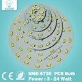 1pce frete Grátis 3 W 5 W 7 W 9 W 12 W 15 W 18 W 24 W SMD5730 brilho de Luz Painel de LED Board Lâmpada para Lâmpadas de Luz de Teto e Luz