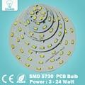 Free Shipping 1pce 3W 5W 7W 9W 12W 15W 18W  24W SMD5730 Brightness Light Board LED Lamp Panel for Ceiling Light and Light Bulbs