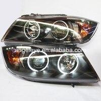 Для bmw для E90 318i 320i 2005 2008 год фара передняя свет CCFL Ангельские глазки lf