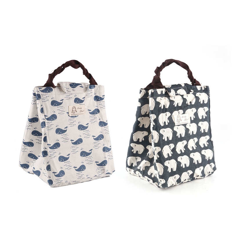 Daddy Chen Picnic Bags Kid Food Lunch Bag ThermalPortable Handbag Pouch Storage Box Insulated Cute Picnic Bags for Women Men Bag