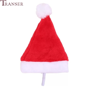 Drop Shipping Christmas Dog Hat Fleece Pet Dog Cat Hats For Celebration 80913(China)