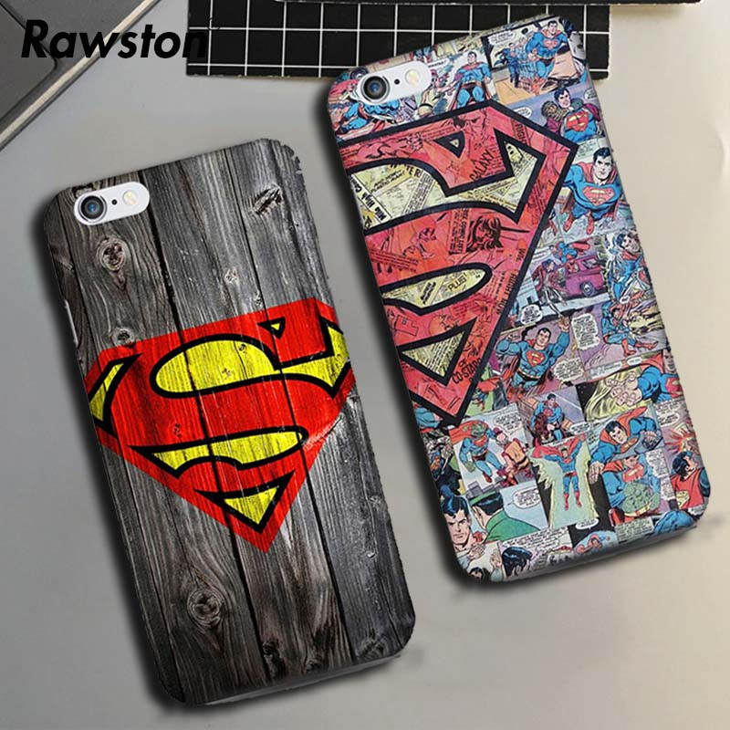 Marvel Superman Cover Case for coque iPhone 5SE 5s 6 6s 7 8 Plus X 6plus Spider Batman I ...