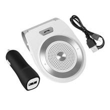 цена на V4.1+EDR Bluetooth Car Kit Speakerphone Handsfree Wireless Bluetooth Speaker Phone MP3 Music Player Sun Visor with Car Charger