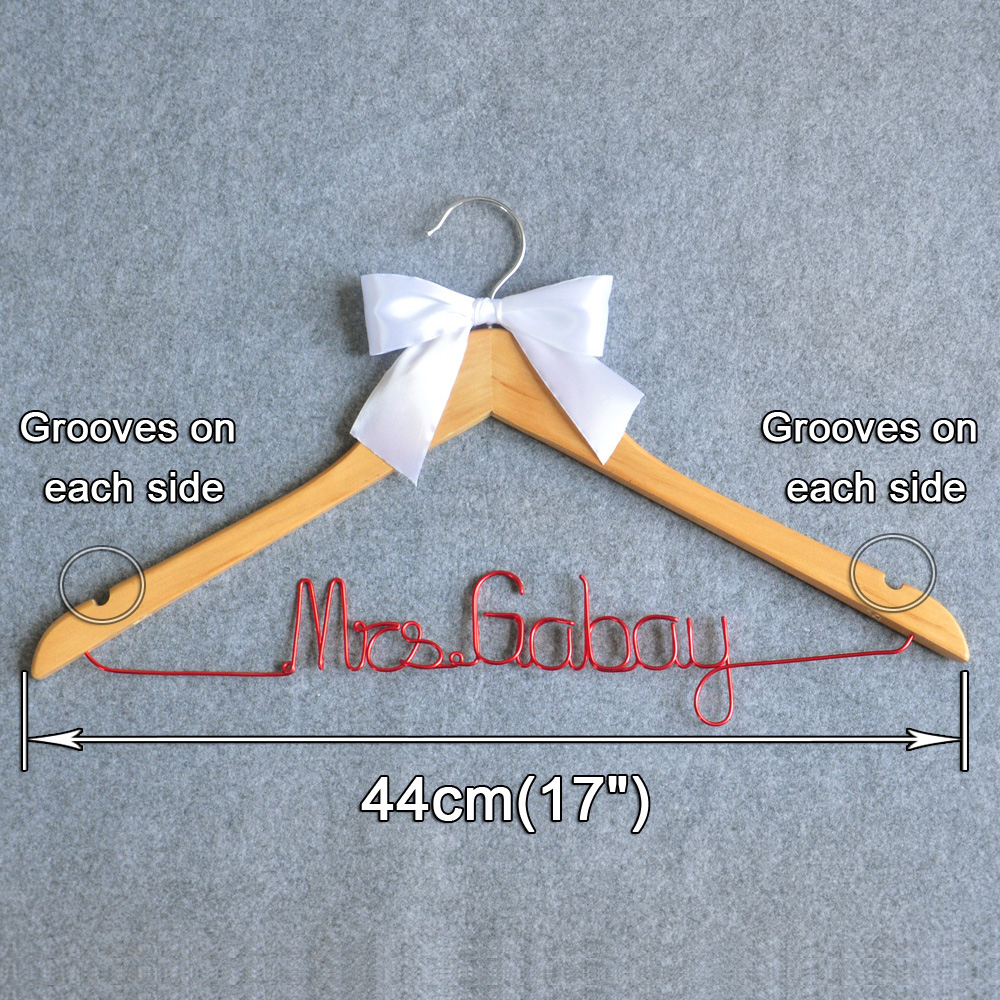 Free shipping Custom Wedding Hanger, Personalized Hanger W/bow knot ...