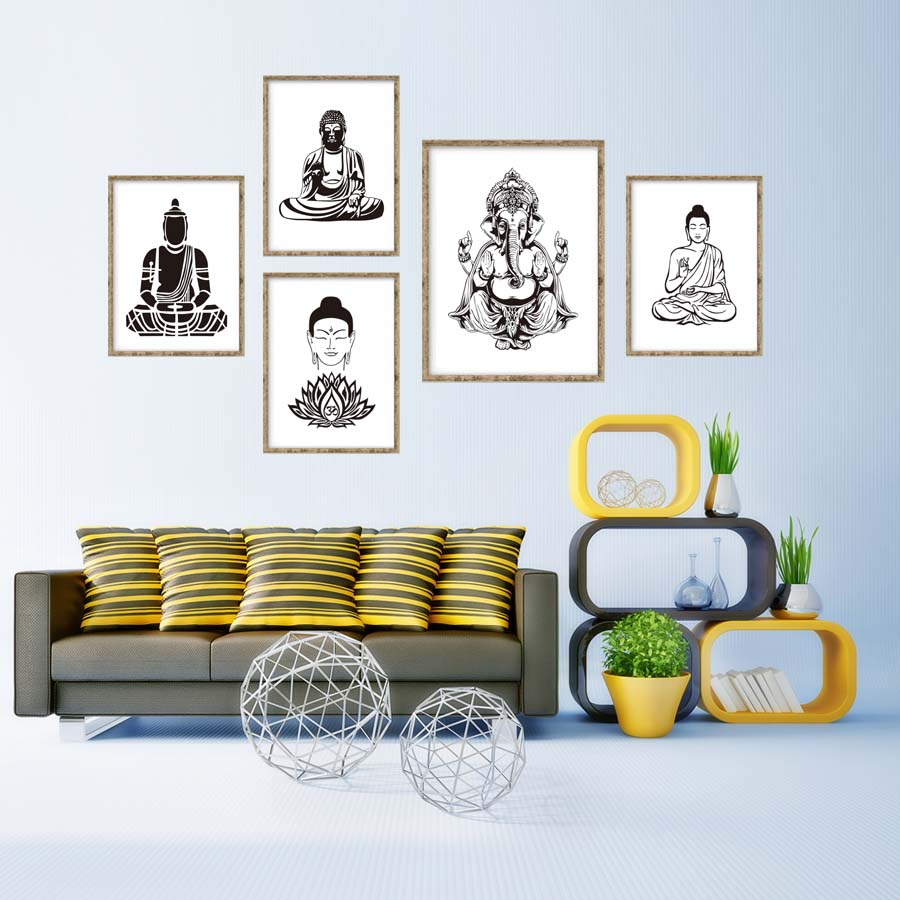 Hot Sale Lotus Flower Yoga Buddha Art Canvas Art Print Poster Buddha ...