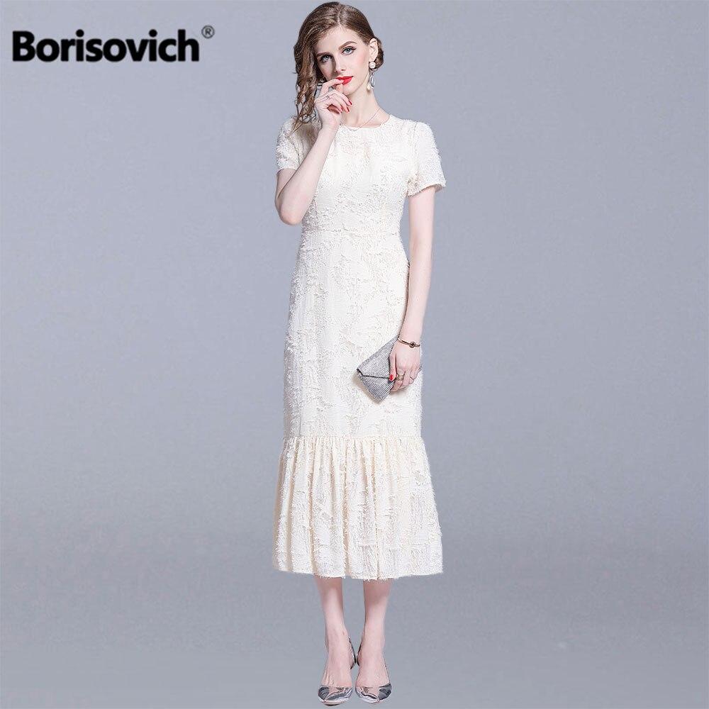 Borisovich dames de luxe sirène longue robe nouvelle marque 2019 mode d'été angleterre Style élégant Slim femmes robes de soirée N1287