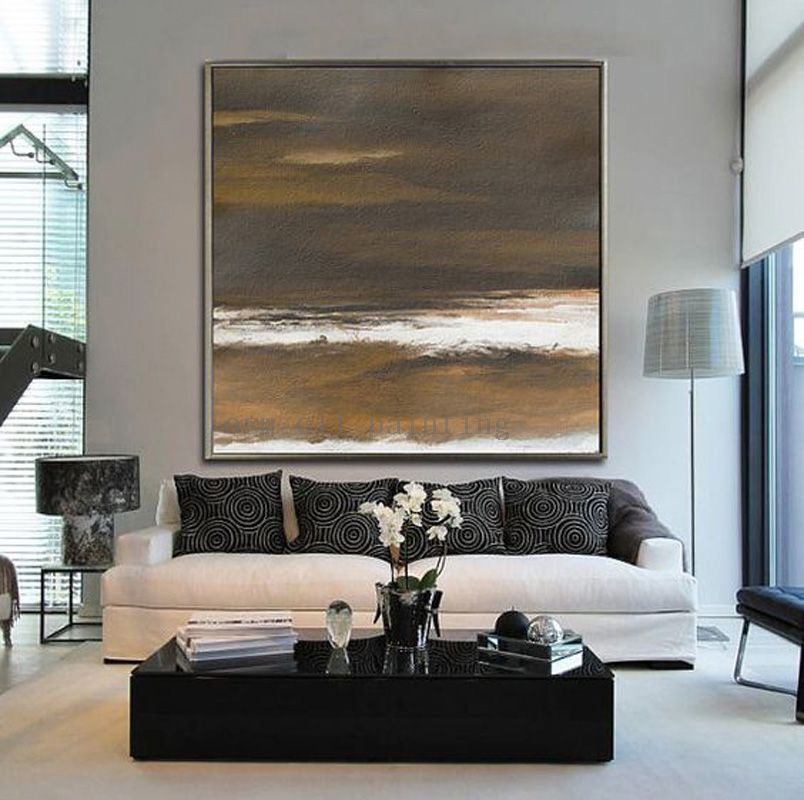 Handmade Acrylic Painting On Canvas Abstract Large Art Landscape Hang Picture Hand Painted Seascape Wall Artwork Oil Paintings