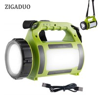 LED Rechargeable Camping Lantern, Power Bank,Super Bright Flashlight Torch Spotlight Searchlight, Outdoor Tent Light for Hiking