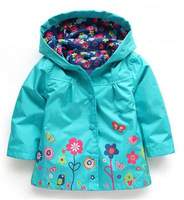 Fashion Green Long Sleeves Toddler Red Hoodie And Waterproof Pants Suit Infant Girl Coats Hooded Rain