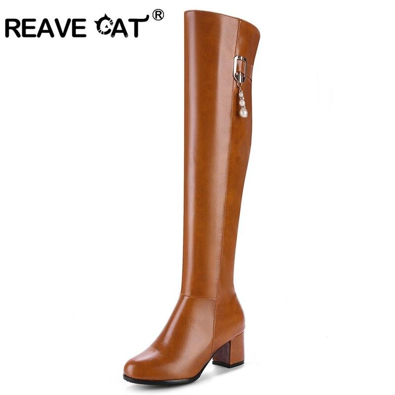 Heel High Equestrain Kette Stiefel Winter Cat A758 Qualit Frauen Perle Herbst Frau Knie Reave Schuhe Top t auf Reiten Beigeschwarzgelb 7fgY6byv
