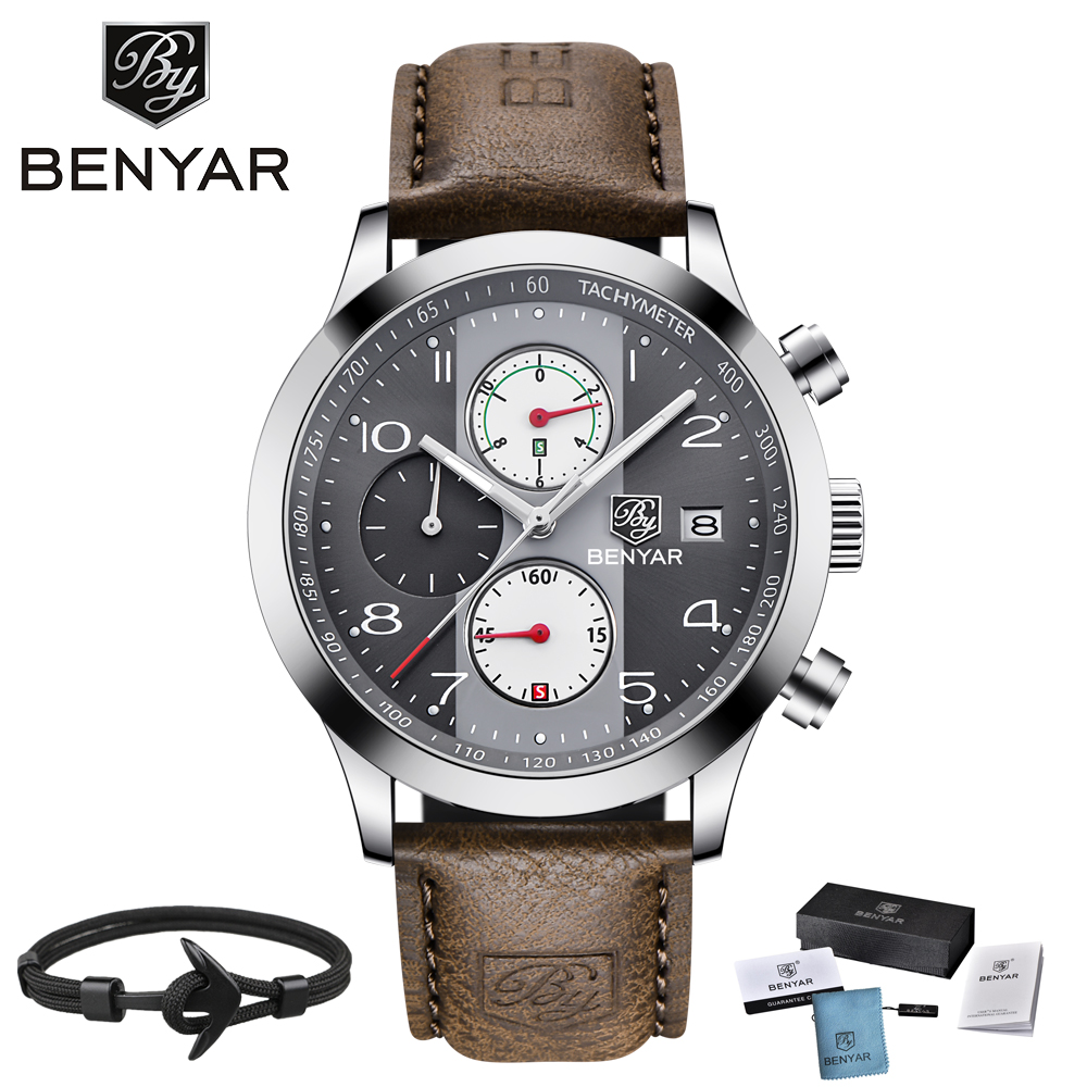 2018 BENYAR Luxury Brand Men Sport Watches Quartz Chronograph Waterproof Watch Clock Men Relogio Masculino erkek kol saati gift brand pagani design luxury chronograph sport mens watches waterproof quartz military watch relogio masculino erkek kol saati