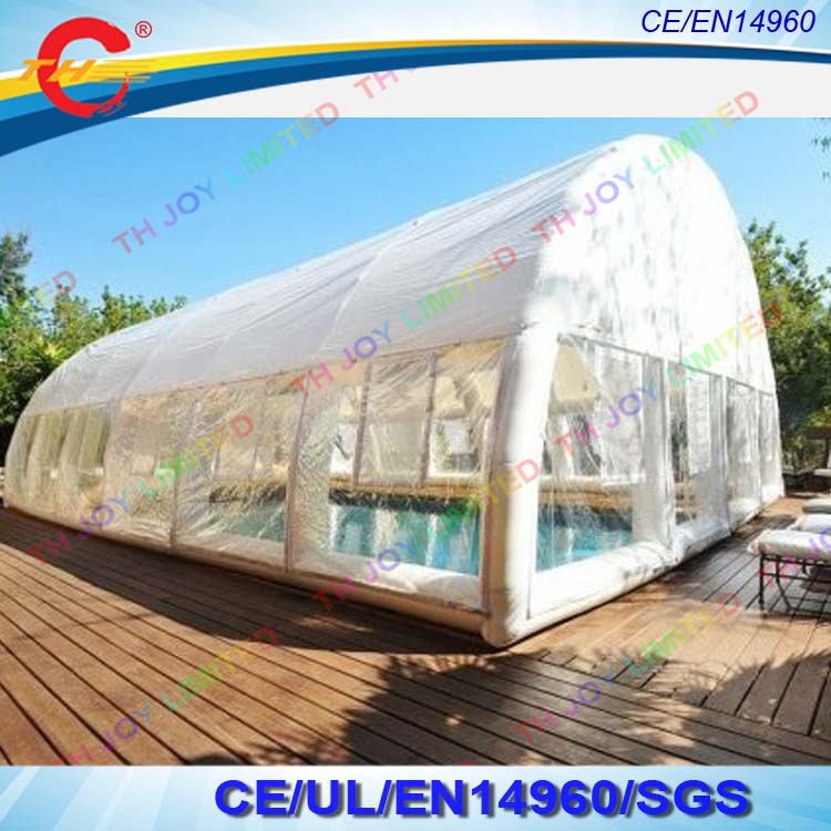 free air shipping,15*8m Outdoor transparent inflatable