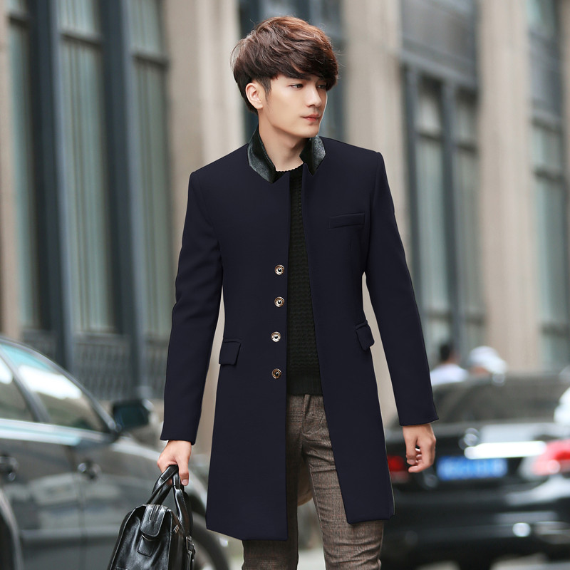 Men S Korean Fasion Winter: 2015 Autumn Winter Fashion Leisure Korean Men Cotton Long