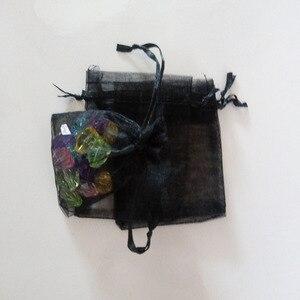Image 3 - 1000 adet Siyah hediye keseleri Için takı çantaları Ve Ambalaj organze çanta İpli Çanta Düğün/Kadın Seyahat Depolama Ekran Torbalar