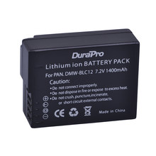 DuraPro – batterie pour Panasonic DMC GH2 G5 G6 FZ1000 FZ200, 1400mAh