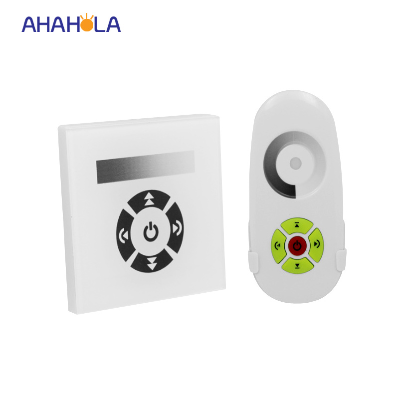 цена EU standard touch rf wall led dimmer 12v 24v led controller wireless remote switch control single color led strip 8A dimmer