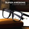 2016 новый лето молнии Заклепки на очки Мужчины прохладный очки кадров мужчины прозрачные линзы óculos de sol очки Для Чтения n528