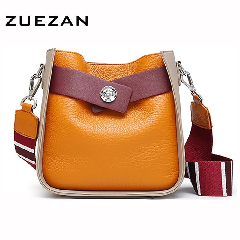 CONTRAST COLOR Composite Bags Women Genuine Leather Shoulder Hobo Bag 100 Natural Cow s skin Lady