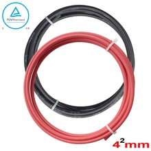 4mm2 DIY solar system  Black Solar Cable+ red Solar cable   PV Cabel With TUV UL Approval solar
