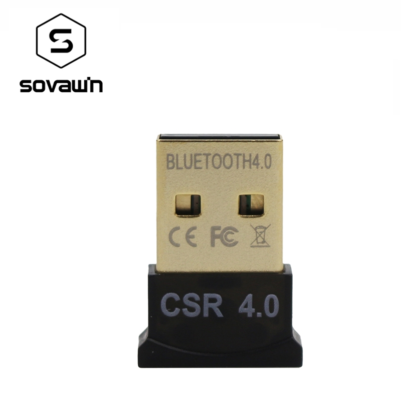 Sovawin Wireless Adapter CSR <font><b>Bluetooth</b></font> 4,0 3 Mbps Mini Dongle Dual Modus Musik für PC Computer Laptops Windows 7 XP image