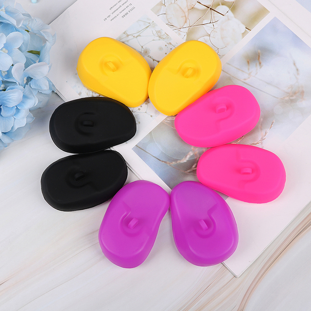 1 Pair Silicone Ear Cover Practical Travel Hair Color Showers Water Shampoo Ear Protector Cover For Ear Care 5
