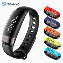 Teamyo фитнес-браслет монитор сердечного ритма часы крови Давление умный Группа сна трекер повязки шаг счетчик