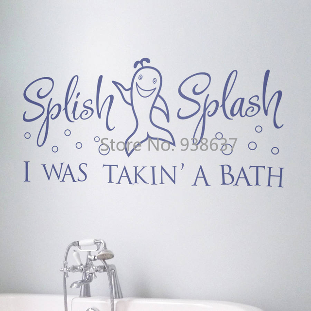 Bathroom Wall Sticker Splish Splash Wall Window Decoration Vinyl ...