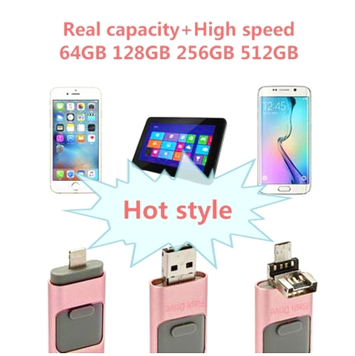 New i-Flash pen Driver HD U-disk Lightning data for iPhone/iPad/iPod,micro usb interface flash drive for PC/MAC 128/32/16/64GB