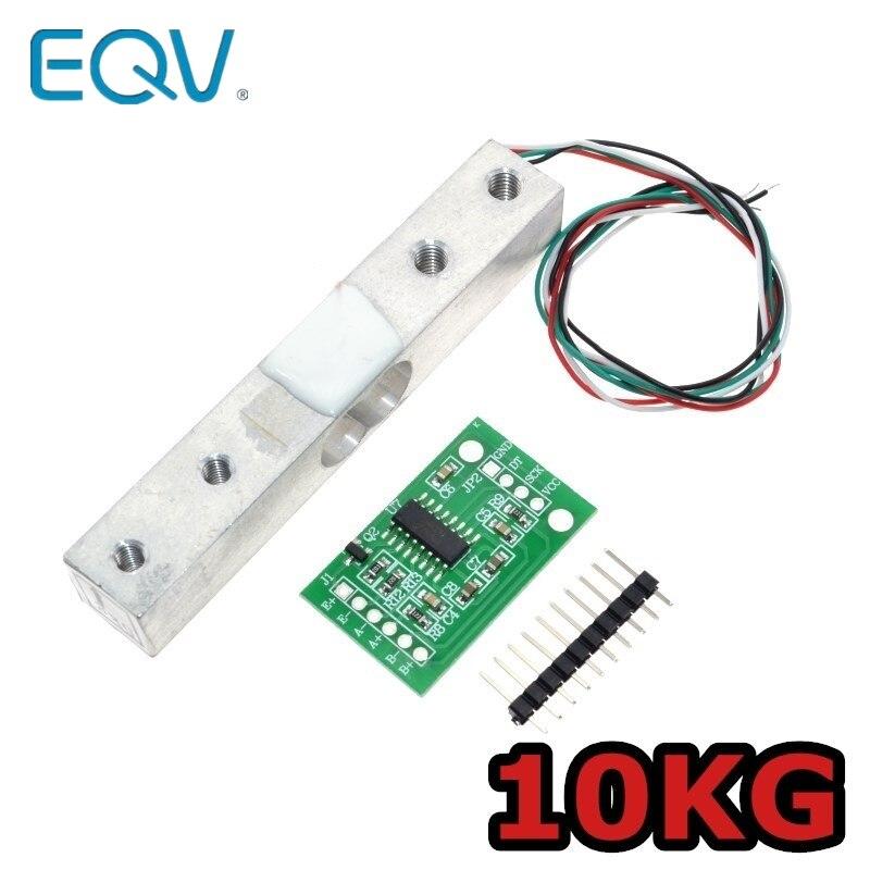 Capteur de poids de cellule de charge numérique 10KG balance de cuisine électronique Portable + HX711 capteurs de pesage Module Ad