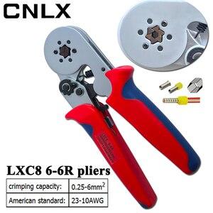 Image 3 - LXC8 6 6R圧着ペンチ電子管状端子ボックスミニブランドプライヤーツールLXC8 0.25 6mm2 23 10AWG炭素鋼電気