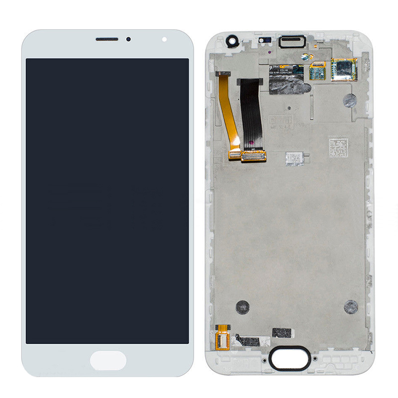 +Frame White LCD Display + Touch Screen Digitizer Assembly Replacements For 5.5 Meizu MX5 MX 5 Free Shipping