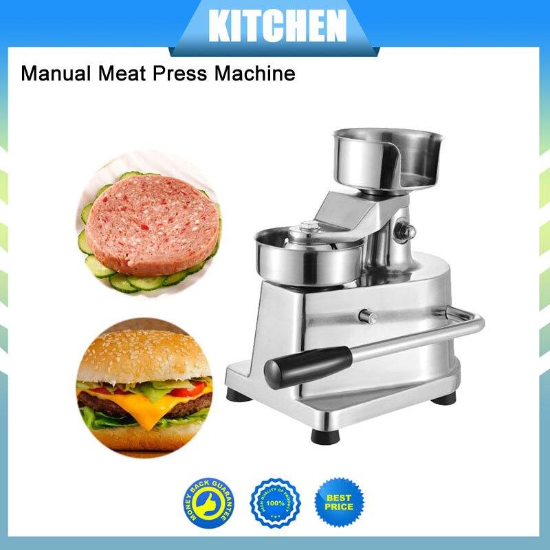 2018 Новое поступление 100 мм 130 мм Руководство гамбургер Пресс Burger формируя машину круглый мясо формирование Алюминий машины