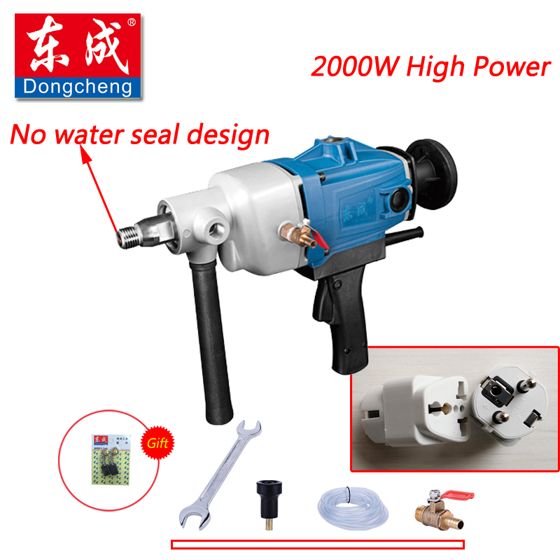 цена на New 180mm Diamond Drill With Water Source (hand-held) 2000W Diamond Core Drill For Concrete Wall Electric Drill (No Water Seal)