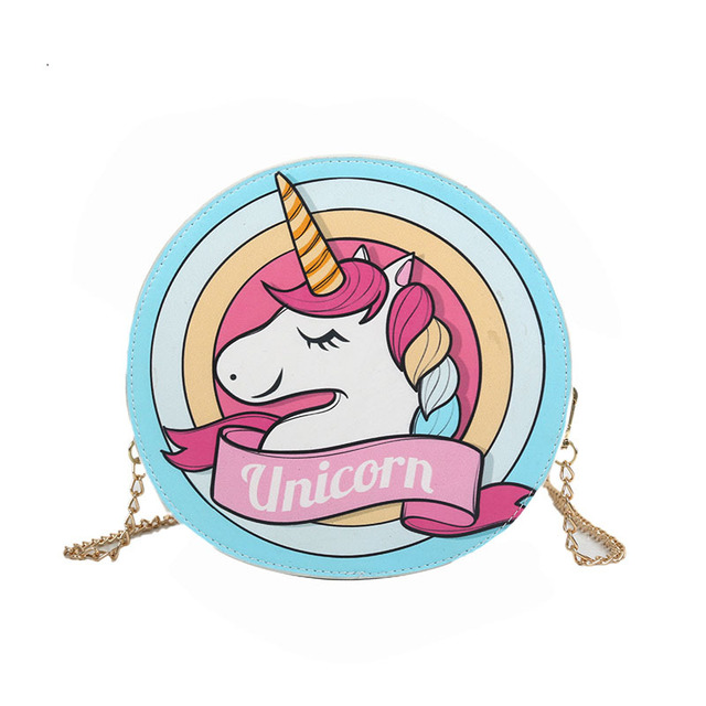 2018 New Cartoon Rainbow Unicorn Women Shoulder Bags Kawaii Women