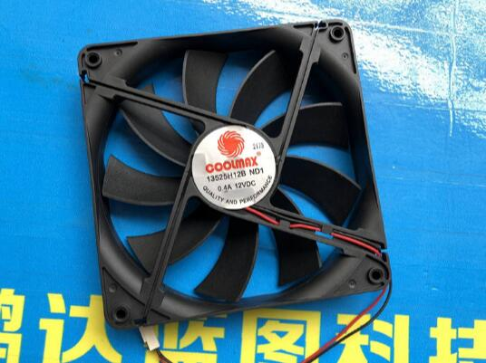 13525H12B 12V 13525 13.5CM 135 * 135 * 25MM 2-wire Computer Chassis Power Supply Large Air Cooling Fan