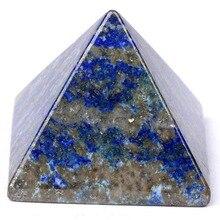 Lapis Lazuli Semiprecious Stone Pyramid Carved