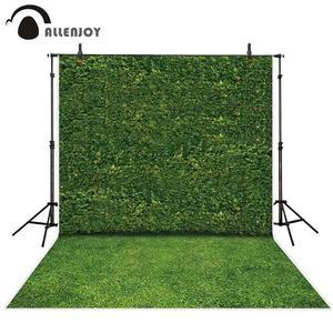 Image 1 - Allenjoy fotoğraf arka planında doğa yeşil yapraklar duvar çim portre sahne fotografik arka planlar photocall photo booth