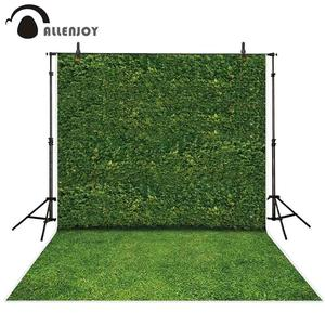 Image 1 - Allenjoy צילום תפאורות טבע ירוק עלים קיר דשא דיוקן נוף רקע צילום שיחת וידאו תא צילום