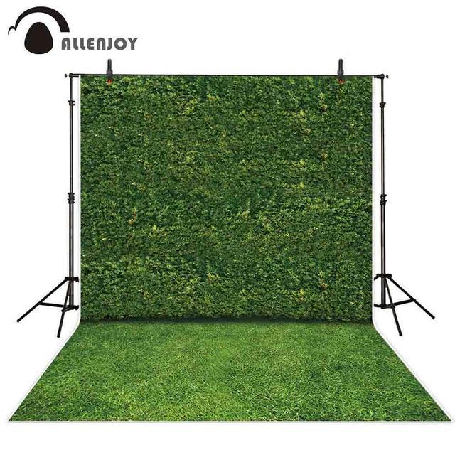 Allenjoy צילום תפאורות טבע ירוק עלים קיר דשא דיוקן נוף רקע צילום שיחת וידאו תא צילום