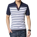 M - 5XL quality fast brand short sleeve men striped camisa polo masculina homme uomo polos de marca hombre solid polo shirt