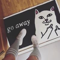 1pc Ground mat Go Away Front Door Floor Mat Rug Mats For Hallway Non slip Cute Cat Mat home decor L50