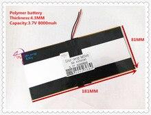 3.7 В 8000 мАч SD 4318181 (полимер литий-ионный/литий-ионный аккумулятор) для планшетных ПК Pipo M9 Pro 3 г/Макс M9 Quad Core