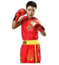 Women/Mens Boxing Shorts+Tank Tops Wushu Sanda/Muay Thai/Boxeo/MMA/Taekwondo