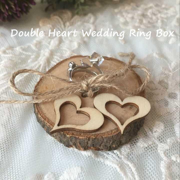 Rustic fairytale wedding ring box setvintage wedding decoration