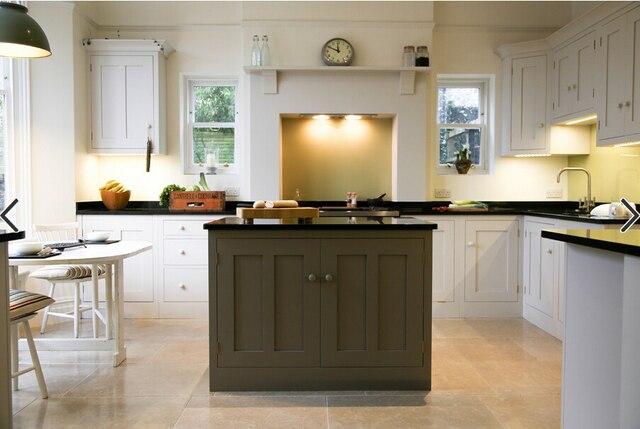 Shaker stijl berken massief houten keukenkast natuur hout