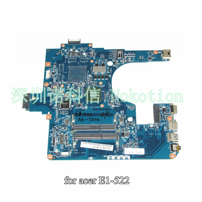 NOKOTION NB.M8111.00K NBM811100K Main Board For Gateway NE522 NE52209U Laptop Motherboard 1.5Ghz CPU DDR3 eg70 eg70bz rev 2 0 for gateway ne71b ne71b06u laptop motherboard e2 1800 cpu ddr3