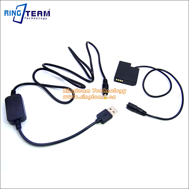 DMW-BLH7 bateria DMW DCC15 Acoplador + Cabo USB Adaptador Se Encaixa Banco  de Potência DC 5 V 2A para Panasonic GM1 Lumix DMC GM5 GF7 GF8 Câmeras  Digitais 581c875d88