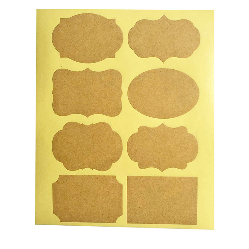 Smart (Qty80pcs ) Fancy Kraft Paper Essential Oil Bottle Stickers Labels self-adhesive stationery sticker for bottles decoration