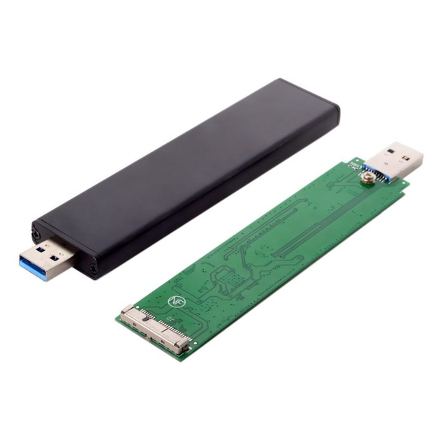 USB 3.0 Male to 17+7pin SSD HDD Hard Disk Cartridge Drive for 2012 Macbook Air A1465 A1466